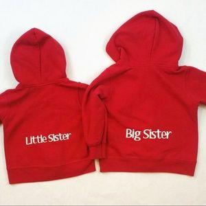 Big Sister & Little Sister hoodies 6M (12M) & 3T